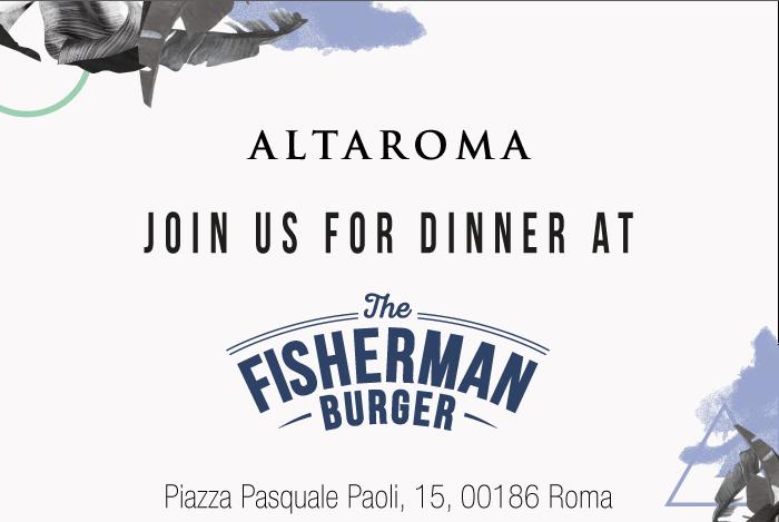 The Fisherman Burger incontra AltaRoma